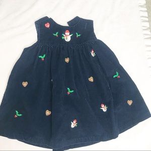 Navy Courderoy Christmas Dress Baby Girl 12 month